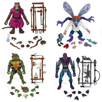 Super7 TMNT Ultimates SPLINTER, RAPHAEL, BAXTER, and FOOT SOLDIER Set